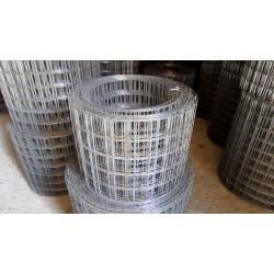 Сетка сварная в рулонах 50x50x1.6, 1.5x25м, оцин
