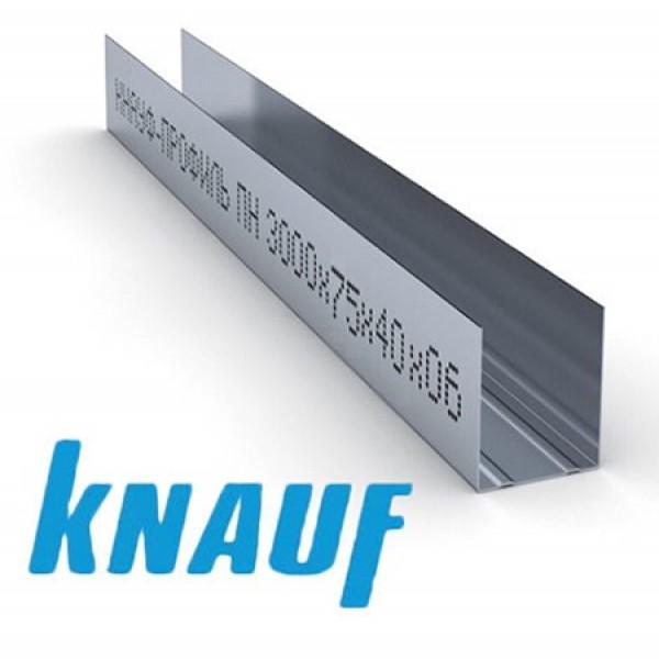 Купить Профиль направляющий ПН Кнауф 75х40х0.6мм (3м) в Уфе цена