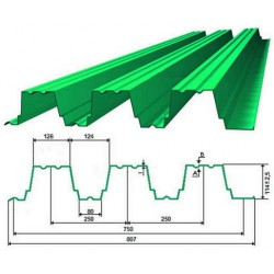 Профнастил Н114  (0.5 -0.7мм)