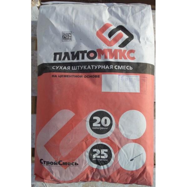 Купить Штукатурка Плитомикс ШТ основа цементная для груб.выравн 25 кг в Уфе цена