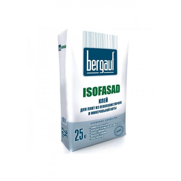 Купить Клей Bergauf Isofasad 25 кг для пенополистирола и мин. ваты в Уфе цена