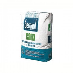 Клей для утеплителя Bergauf Isofix 25 кг (пенополистирол, базальт, минвата)