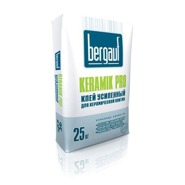 Купить Клей плиточный Бергауф Keramik Pro усиленный, для керамической плитки  25кг в Уфе цена