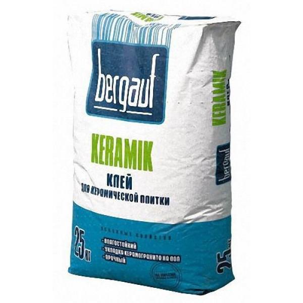 Купить Клей плиточный Бергауф Keramik для керамической плитки 25кг в Уфе цена