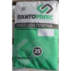 Клей плиточный Плитомикс КС-04 теплый дом для теплого пола 25кг