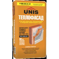Клей Юнис ТЕПЛОФАСАД 25кг для теплоизоляции и пенополистирола