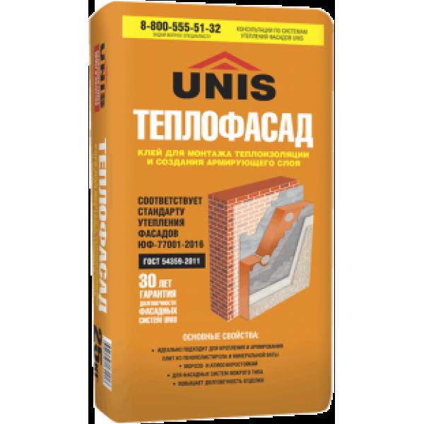 Купить Клей Юнис ТЕПЛОФАСАД 25кг для теплоизоляции и пенополистирола в Уфе цена