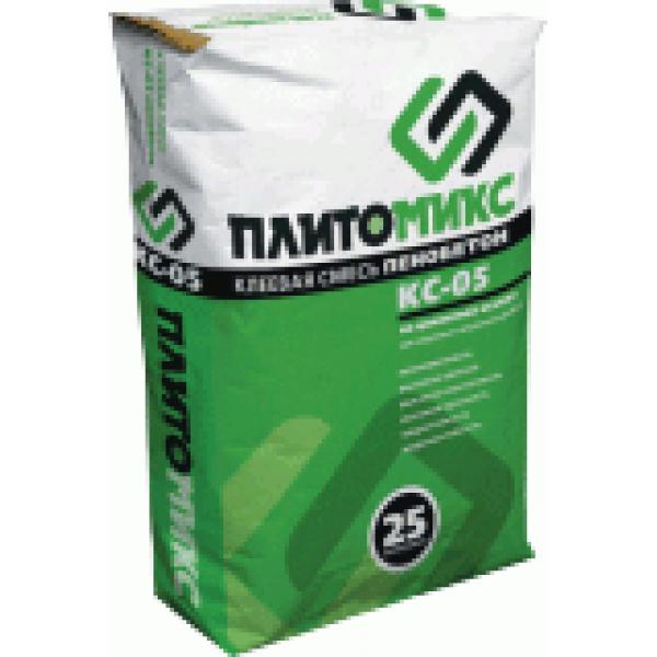 Купить Монтажная смесь Плитомикс КС-05 для пенобетона и газоблока 25кг в Уфе цена