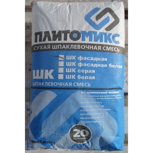 Купить Шпаклевка Плитомикс ШК фасад цементная белая 20кг в Уфе цена