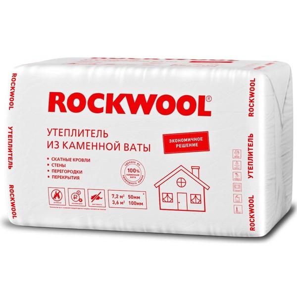 Купить Утеплитель Роквул ЭКОНОМ 50х1000х600мм (7.2м2, 0.36м3) 12 плит/уп в Уфе цена
