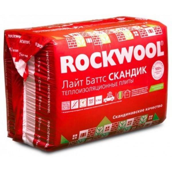 Купить Утеплитель Роквул Лайт Баттс Скандик 50х600х1200мм (5.76м2, 0.288м3) в Уфе цена