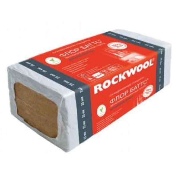 Купить Утеплитель Роквул Флор Баттс 125 25х600х1000мм (4.8м2, 0.12м3) 8 плит в Уфе цена