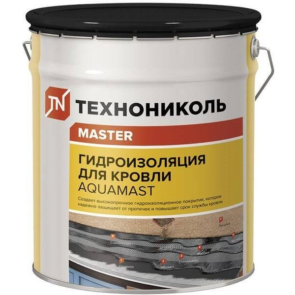 Купить Мастика битумная-резиновая 18 кг (AguaMast) для кровли в Уфе цена